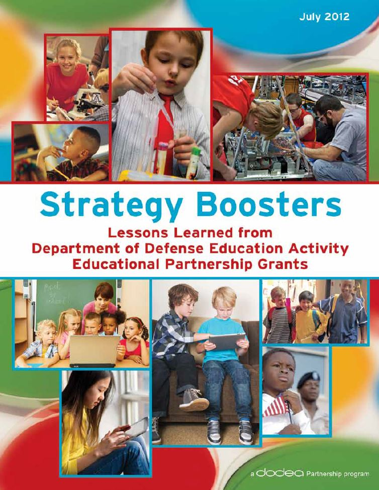 Strategy Boosters: Lessons Learned from Department of Defense Education Activity Educational Partnerships Grants